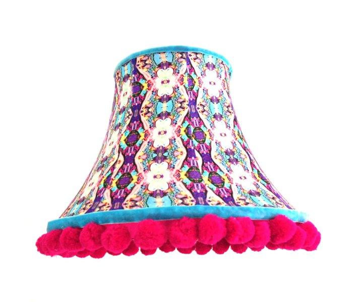 archie-mac-london-handmade-pattern-lamp-shade-velvet-traditional-modern-chain-purple-pink-pastel-bowed-empire
