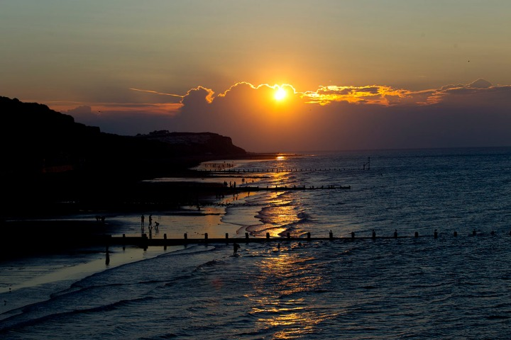 A sunset in Cromer, Norfolk, Augist 22 2015