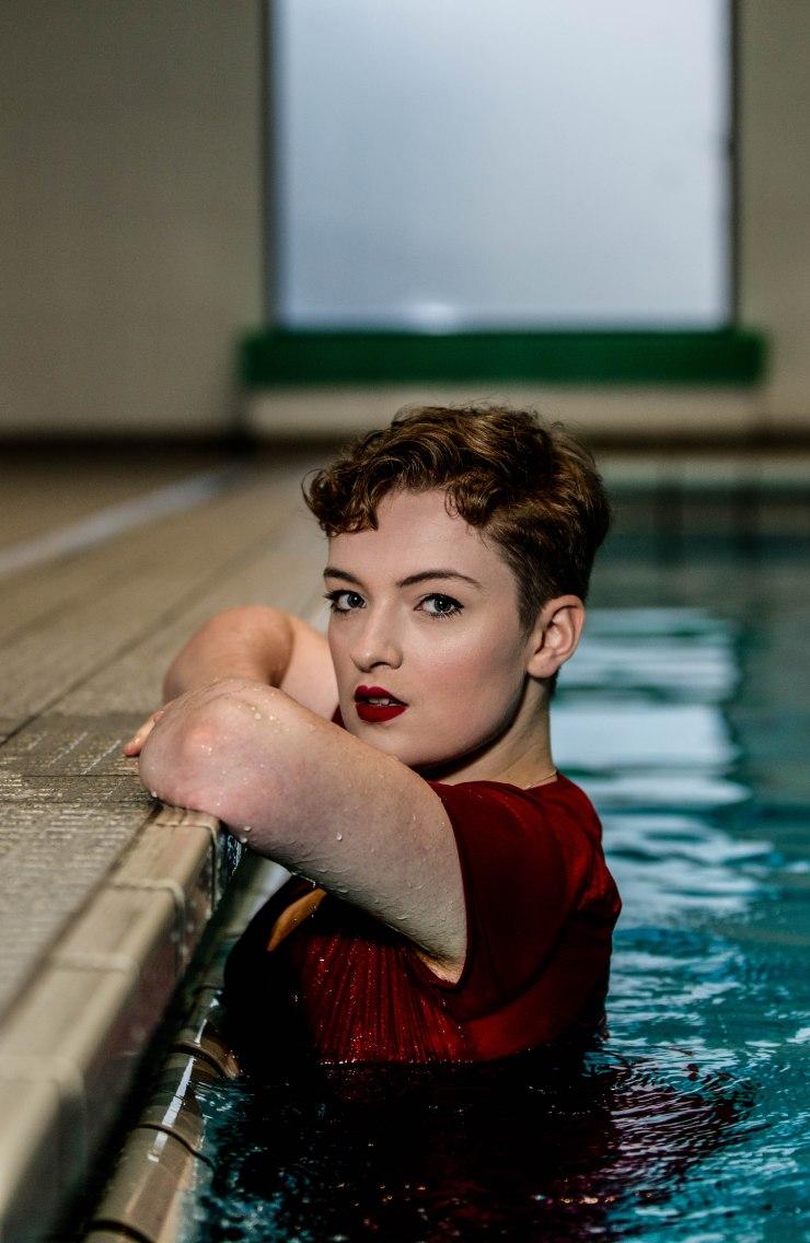 swimming pool photoshoot fabric forward
